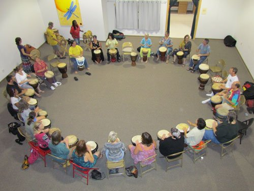 corporate and group drumming workshops